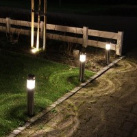 Luxform Lighting - Amiens Solar Garden Post Light