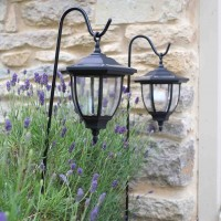 Solar Garden Light - Coach Lanterns 2 pack