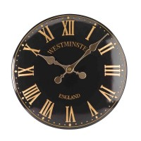 Westminster Tower Wall Clock Black
