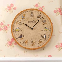 Birdberry Wall Clock 12in