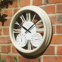 Exeter Clock & Thermometer Cream