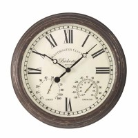 Bickerton Wall Clock & Thermometer 15""