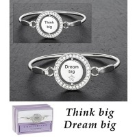 Silver Plated Spinning Bangle - Dream