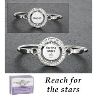 Silver Plated Spinning Bangle - Stars