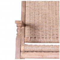 Hanoi Wood & Weave 2 Seat Bench