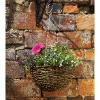 Country Rattan Hanging Basket