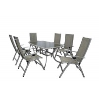 Gold Coast 6 Seat Recliner Rectangular Table Set