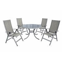 Gold Coast 4 Seat Recliner & Round Table Set