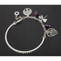 Silverplated Charm Bracelet