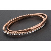 Rose Gold Plated Two Rings Bangle