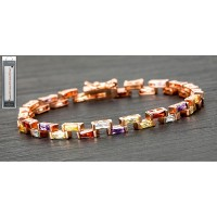 Rose Gold Plated Step Stones Bracelet