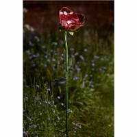 Solar Garden Light - Red Rose