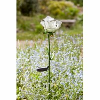 Solar Garden Light - White Rose