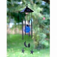 Sun Moon & Star Solar Windchime