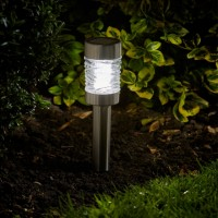Solar Garden Light - Martini Stainless Steel Pack