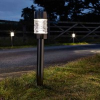 Solar Garden Light - Martello Nickel Stake