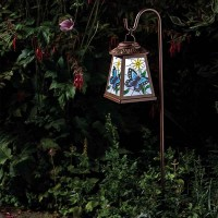 Solar Butterfly Lantern with Crook
