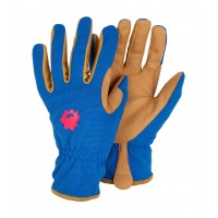 Profession'elle' Blue Rose Print Gardening Gloves
