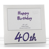 Gliiter 40th Birthday Photo Frame
