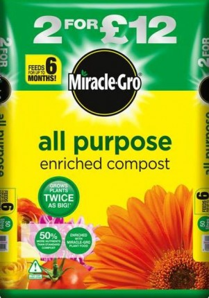 Miracle-Gro Compost + 6 Months Feed 50lt