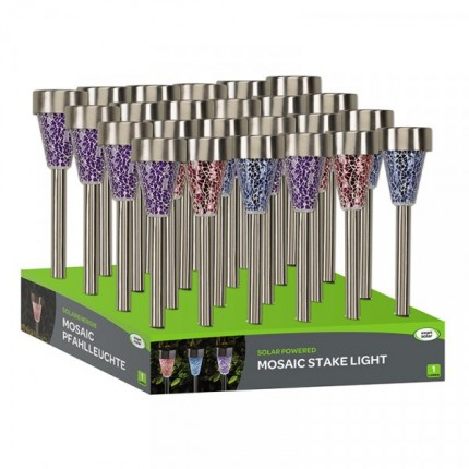 Mosaic - Stainless Steel Solar Lights