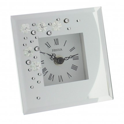 Glass & Crystal Mantel Clock