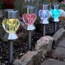 Crystal Solar Stake Light